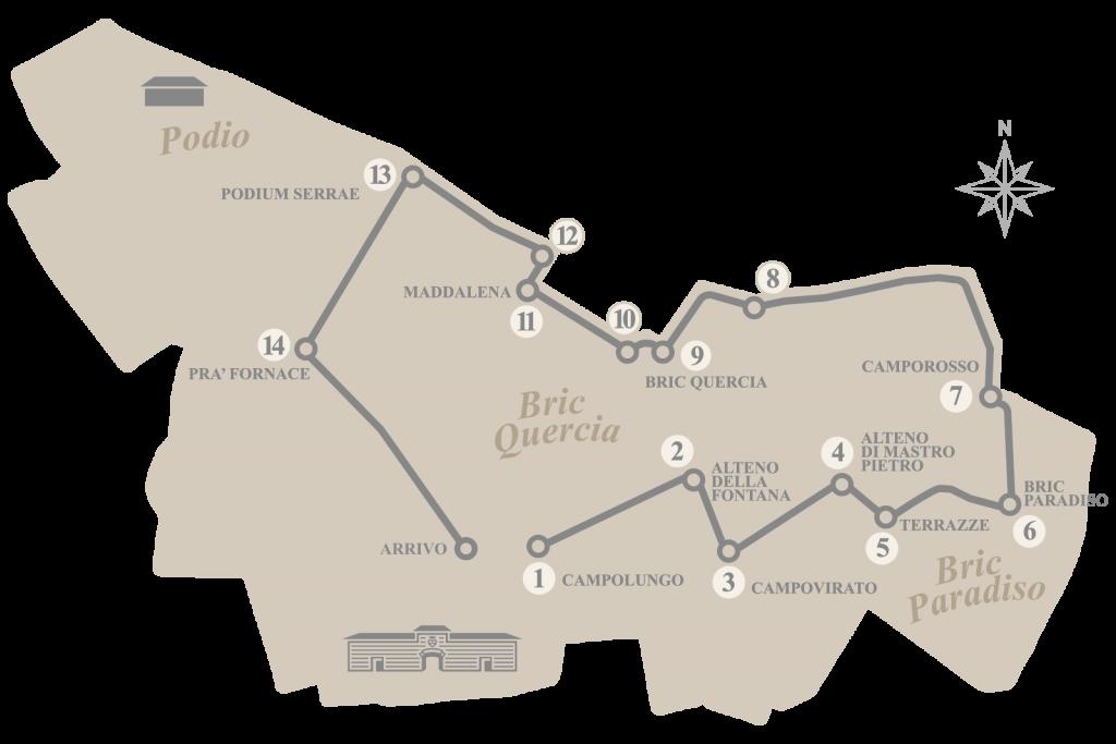 Tenuta Carretta - Le località della Grape's Road